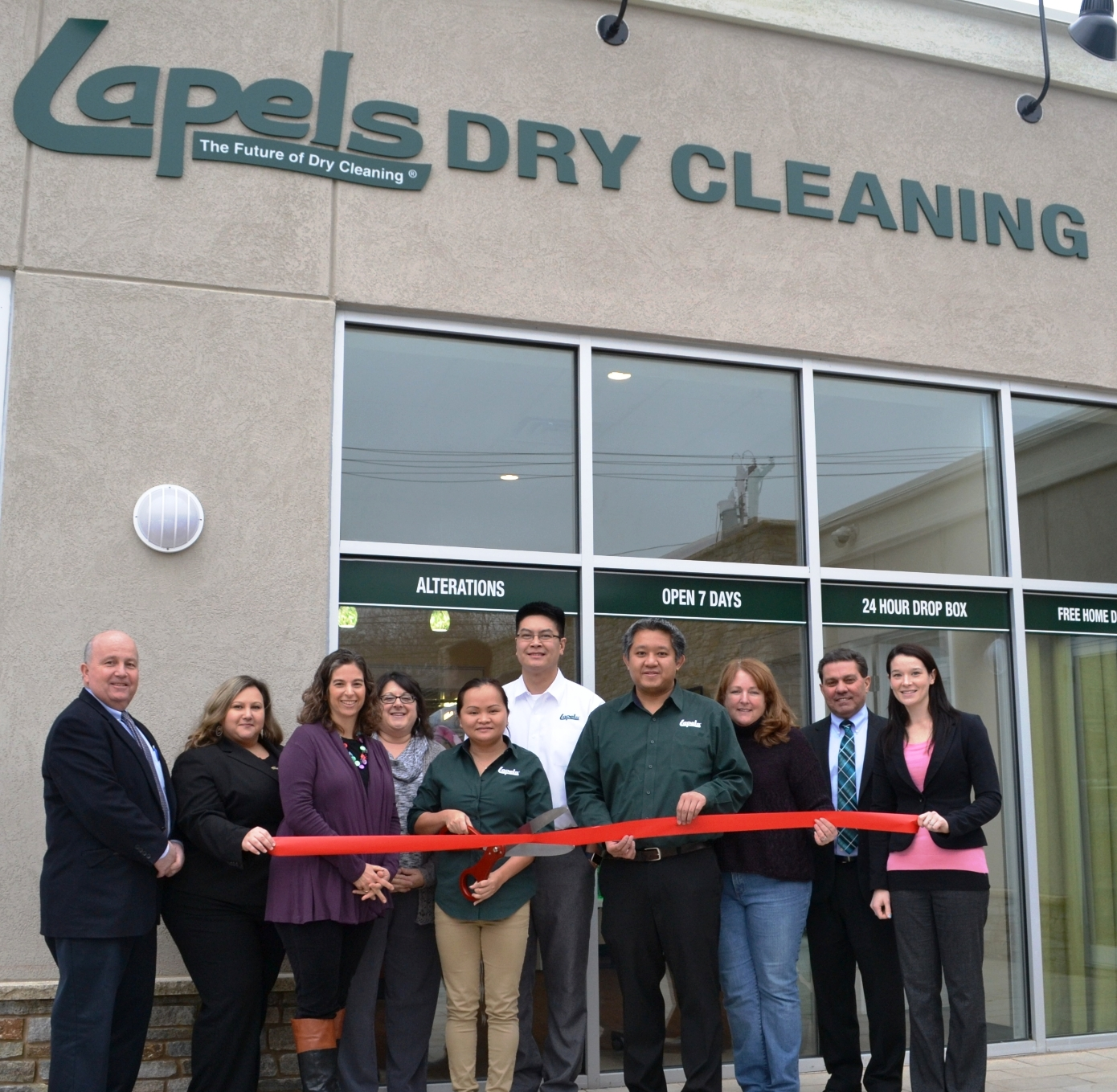 Lapels Dry Cleaning of Wakefield holds Grand Opening