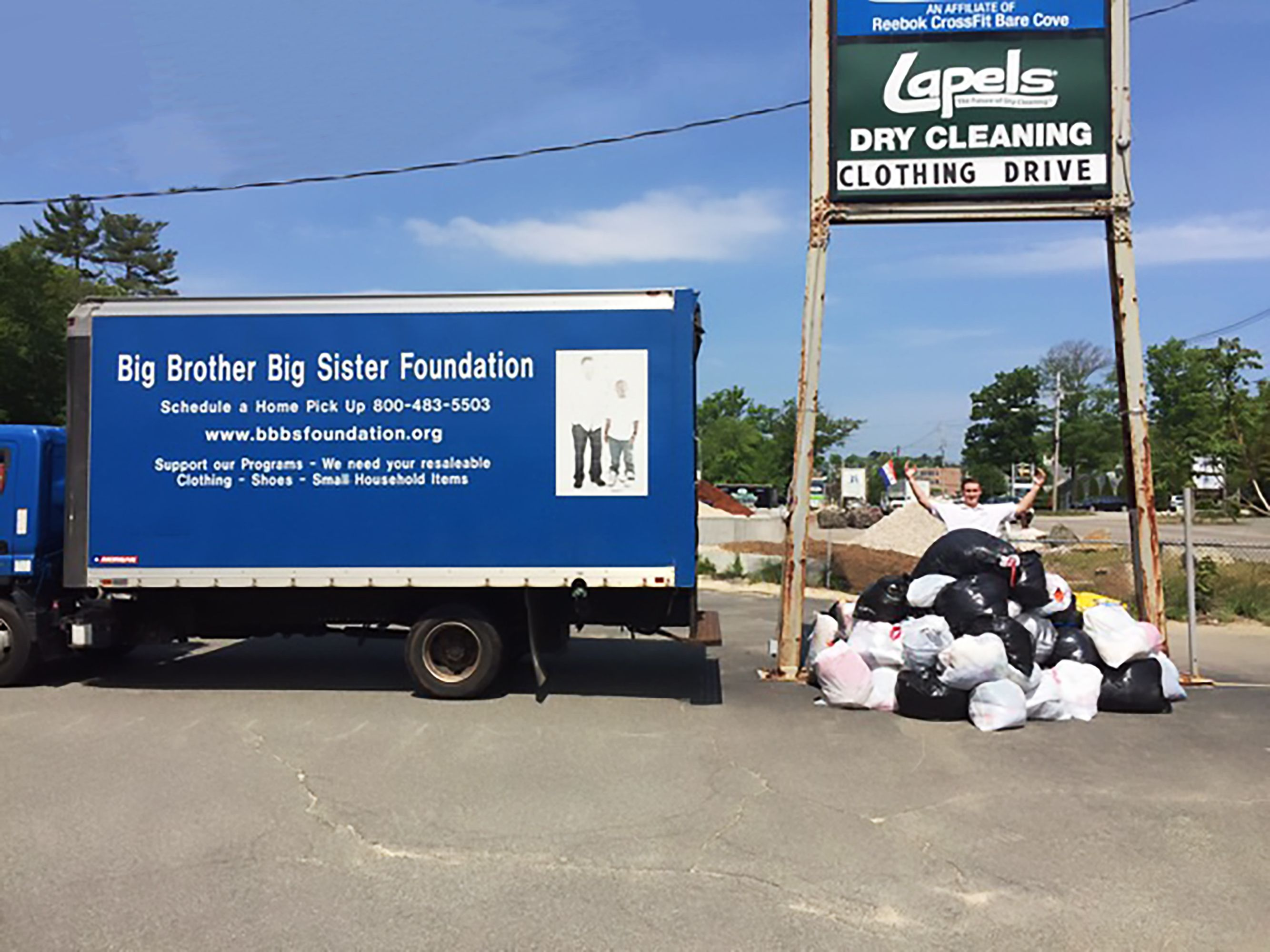 Worth the weight. Lapels Dry Cleaning's annual clothing drive to benefit Big Brother Big Sister raises more than 13,000 pounds of clothing