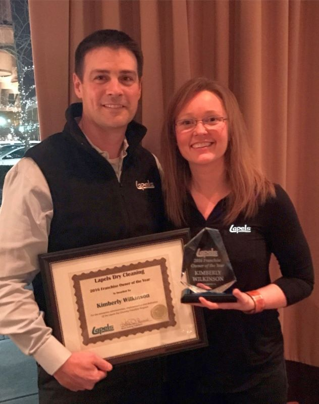 Kimberly Wilkinson named Lapels Dry Cleaning Franchise Owner of the Year