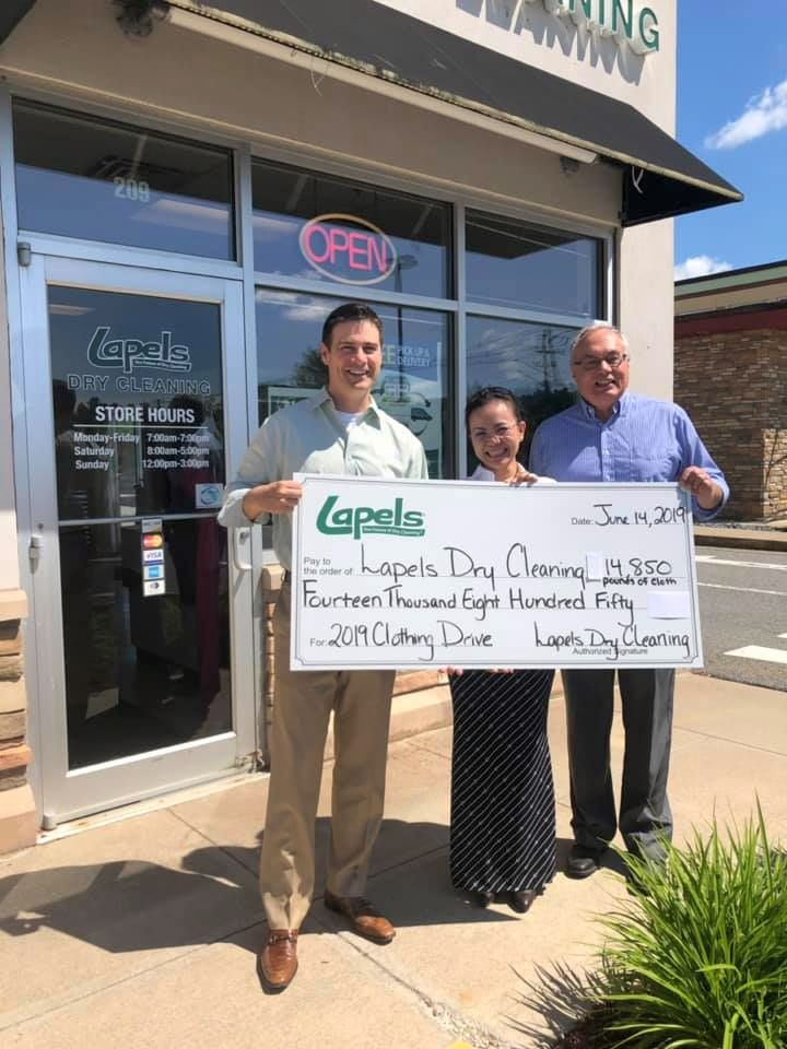 Lapels Dry Cleaning of Wilmington leads annual clothing drive to benefit Big Brother Big Sister Foundation