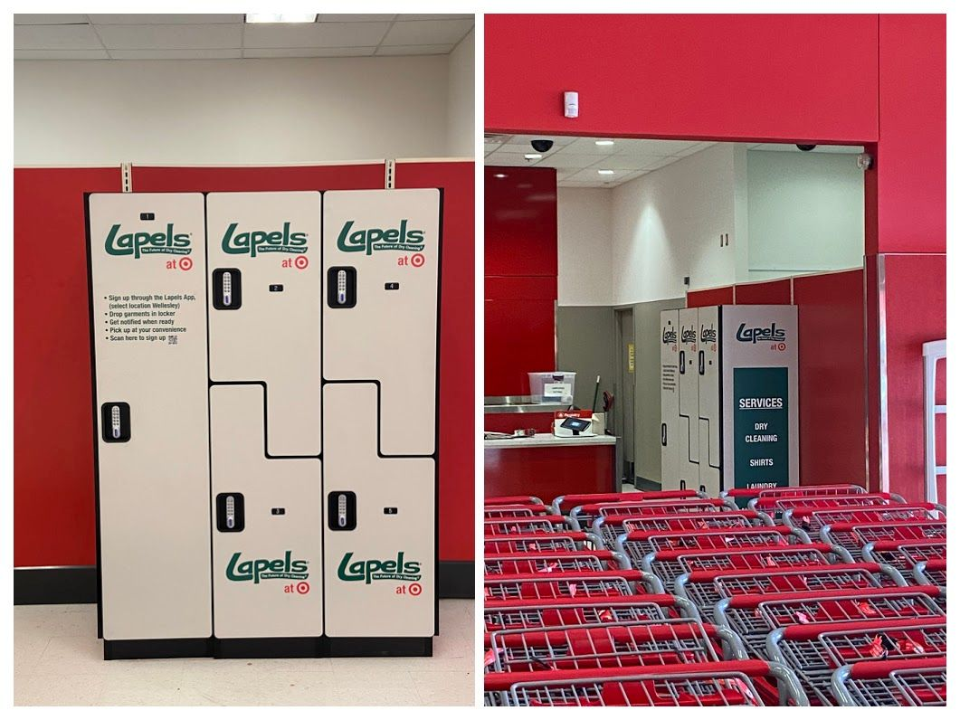Lapels® Dry Cleaning and Target partner on pilot program at Framingham, MA and Watertown, MA locations.